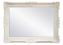 "Rococo Louis XV - 75""t Bevel European Style Floor Mirror - Contemporary Gloss White Finish, 6914"