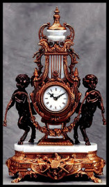 Imperial French Old Gold Gilt Finish shown on Brass and Marble Clock #9