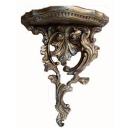 Custom Decorator, Hand Carved Hardwood French Regence, Philipe Duc d'Orle'ans 16 Inch Wall Bracket Shelf