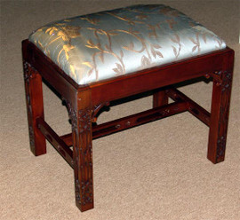 Hand Carved European Reproduction of an Antique 24 Inch Bench