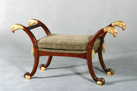Hand Carved European Reproduction of an Antique 51 Inch Bench