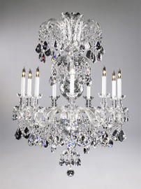 Bohemian Style Nine Light Imperial Lead Crystal - 41.5 Inch Chandelier - Glass Frame