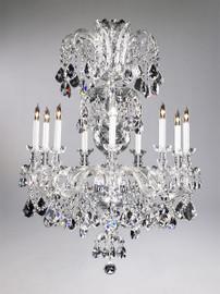 Bohemian Style Nine Light Imperial Lead Crystal - 41.5 Inch Chandelier - Glass Frame