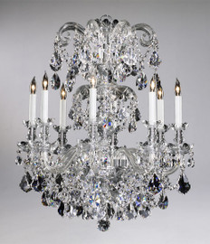 Bohemian Style Eight Light Imperial Lead Crystal - 31.75 Inch Chandelier - Glass Frame
