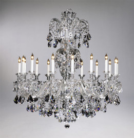 Bohemian Style Sixteen Light Imperial Lead Crystal - 46.5 Inch Chandelier - Glass Frame