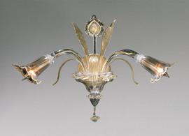 Bellissimi Fiori Pattern - Ice and Golden Teak Two Light Wall Bracket | Sconce