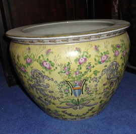 LCP - Luxury Handmade Reproduction Chinese Porcelain - 12 Inch Fish Bowl | Fishbowl | Planter Style 35