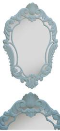 "Classic Elements 22""w X 33""t Shield Shape Reproduction Mirror, Antique White Finish, 6886"