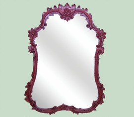 "Classic Elements 40""t X 28""w Rectangular Shape Reproduction Mirror, Contemporary Gloss Black Finish, 6885"