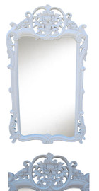 """Classic Elements, 38""""t x 21.5""""w Rectangular Shape Plate Glass Reproduction Mirror, Contemporary Gloss White Finish, 6881"""