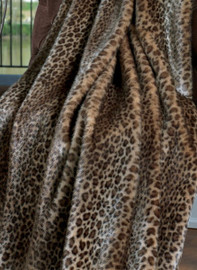 """Javan Leopard - Luxaire Faux Fur Pet Blanket 