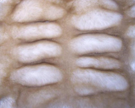 Sheared and Gather Pleated Dawn Mink - Luxaire Faux Fur Pet Blanket | Lounger - Natural look and Luxuriously Soft - 30 X 36 Inches