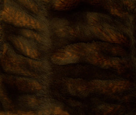 """Sheared and Gather Pleated Mahogany Brown Mink - Luxaire Faux Fur Pet Blanket 