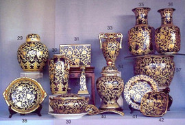 Ebony Black and Gold Lotus Scroll - Luxury Chinese Porcelain Styles - 12bA small grouping of LCP Styles - 12b