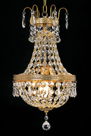 Gold Crystal Pendant Petit Chandelier 2976