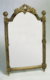 """Empire Style - 16"""" Rectangular Shaped Vanity, Dressing Table Mirror - Antique Brass Finish, 2802"""