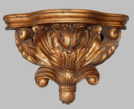 "Classic Elements, 15.5"" Acanthus Wall Bracket Sconce, Shelf, Custom Finish"