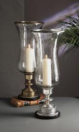 Brass - 28 Inch Hurricane Lamp - Antique Brass Finish