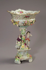 Meissen Style Tabletop, 20t X 13w X 13d Porcelain Compote | Pedestal Bowl | Pedestal Vase