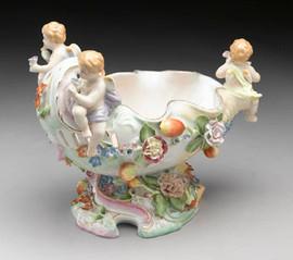 Meissen Style Tabletop, 11 Inch Porcelain Urn