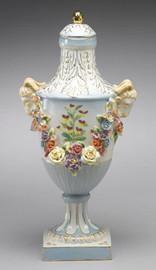 Meissen Style Tabletop, 16 Inch Porcelain Urn