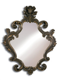 Hand Carved Italy - 70 Inch Oversized Grand Baroque Mirror - Ash Brown and Gold Finish