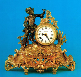 Handmade in Italy - Imperial Fancy d'Oro Ormolu - Desk, Shelf, Mantel, Italian Made Clock - Choose Your Finish - 13.77t x 15.74w x 5.51d