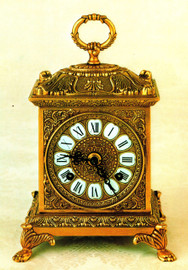 Fancy d'Oro Ormolu - Desk, Mantel, Table, Carriage Clock - Choose Your Finish - Handmade Reproduction of a 17th, 18th Century Dore Bronze Antique, 2522