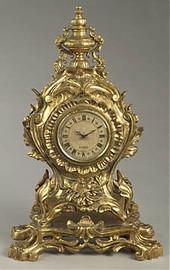 Golden Ornate, 24 Inch Tabletop Clock