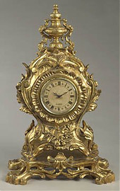 "Golden Ornate, 24"" Mantel, Table Clock, 2493"