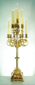 "37"" Gilt Brass Ormolu 13 light Candelabrum - Handmade Reproduction of a 17th, 18th Century Dore Bronze Antique, 2426"