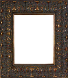 Photo Frame 8 X 10, Brown Finish with Gold Accents