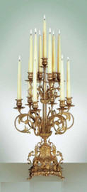 Ornamental d'Oro Ormolu 13 arm Candelabrum - Choose Your Finish - Handmade Reproduction of a 17th, 18th Century Dore Bronze Antique, 2425