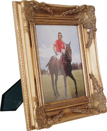 Louis XIV Wide Baroque Style 8 X 10 Photo Frame, Gold Finished Frame