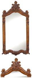 "Classic Elements, 52"" Rectangular Shape Plate Glass Reproduction Mirror, Custom Finish"
