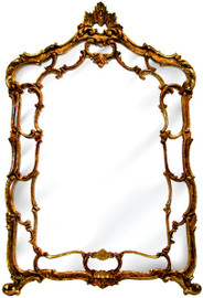 "Classic Elements, 57"" Rectangular Shape Plate Glass Reproduction Mirror, Custom Finish"