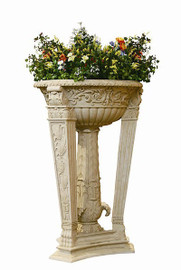 Oversized Outdoor 63 Inch Pedestal Planter