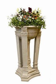 Oversized Outdoor 49 Inch Pedestal Planter