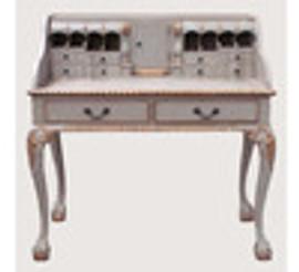 Custom Decorator - Classic 2 Drawer 40.9 inch Writing Desk | Secretary