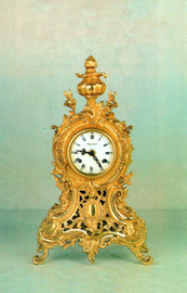 Ornamental d'Oro Ormolu - Desk, Mantel, Table, Louis XIV, Baroque Clock - Choose Your Finish - Handmade Reproduction of a 17th, 18th Century Dore Bronze Antique, 6752