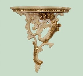 "Classic Elements 17.5"" Decorative Shelf Wall Bracket Sconce, Custom Finish"