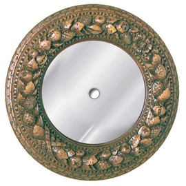"""Classic Elements 12"""" Round Glass Mirrored Reproduction Ceiling Medallion, Custom Finish, 2046"""
