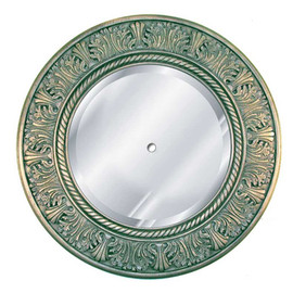 """Classic Elements 29"""" Round Beveled Glass Mirrored Reproduction Ceiling Medallion, Custom Finish, 2045"""