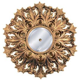 """Classic Elements 25"""" Round Beveled Glass Mirrored Reproduction Ceiling Medallion, Custom Finish, 2043"""
