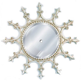 "Classic Elements 23"" Round Beveled Glass Mirrored Reproduction Ceiling Medallion, Custom Finish"