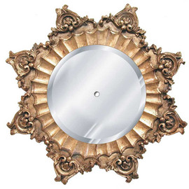 """Classic Elements 35"""" Round Beveled Glass Mirrored Reproduction Ceiling Medallion, 2042"""