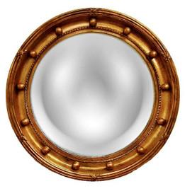 "Classic Elements 22"" Round Reproduction Convex Mirror, Custom Finish"