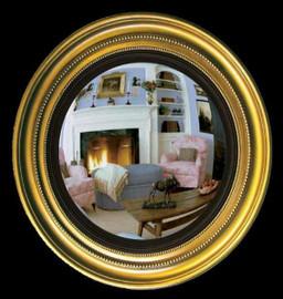 "Classic Elements 22.5"" Round Reproduction Convex Mirror, Custom Finish"