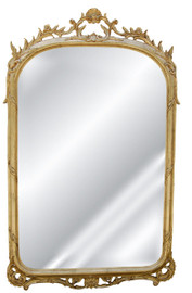 "Classic Elements 53"" X 34"" Oblong Shape Beveled Glass Reproduction Mirror, Gold Leaf Finish, 2028"