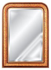 "Classic Elements 28"" X 40"" Rectangular Shape Beveled Glass Reproduction Mirror, Gold Leaf Finish"